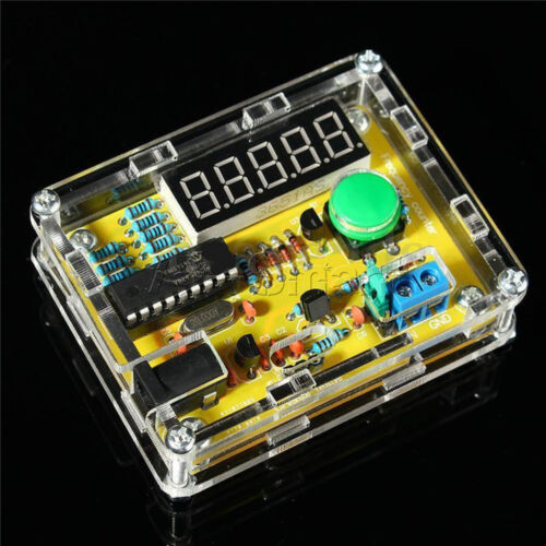 New 1Hz-50MHz Crystal Oscillator Tester Frequency Counter DIY Kits Meter w//Case