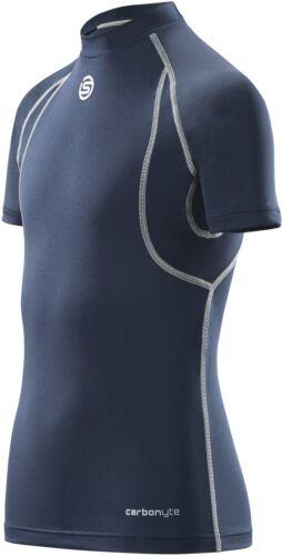 Blue SKINS Carbonyte Junior Baselayer Short Sleeve Training Top
