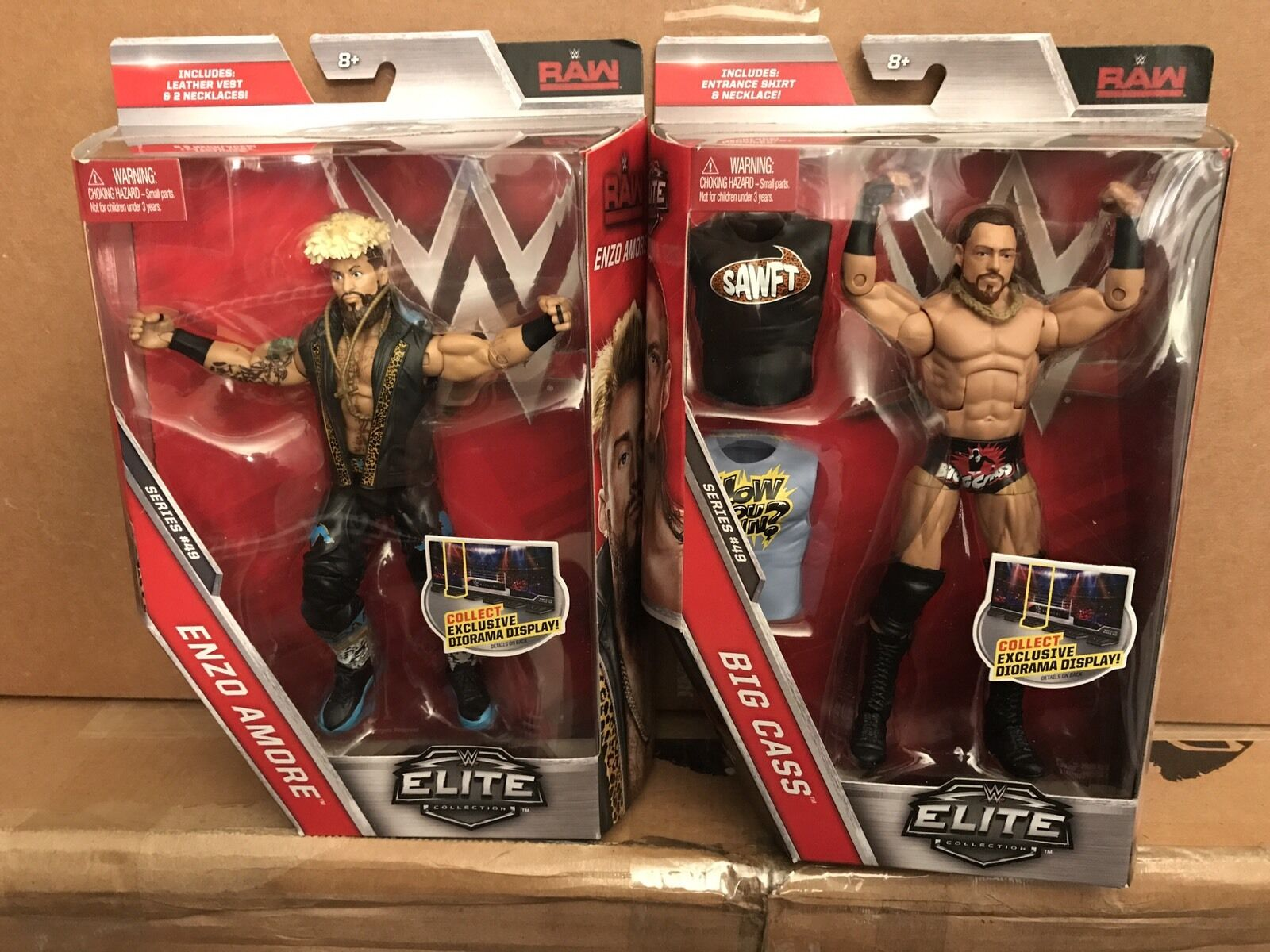 WWE Elite Big Cass, & Enzo Amore Series 49 First Ever Elite Figures