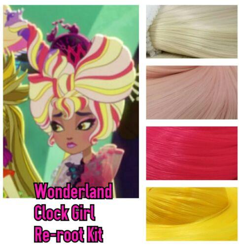 Ever After High Wonderland Alarm Clock Girl Reroot Nylon Hair Kit for OOAK Doll