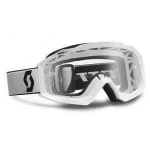Scott-Mx-Hustle-Gafas-de-motocross-para-sistema-blanco-con-Transparente