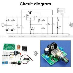 LM317-Digital-Display-Adjustable-Regulated-Power-Supply-Board-Module-DIY-Kits