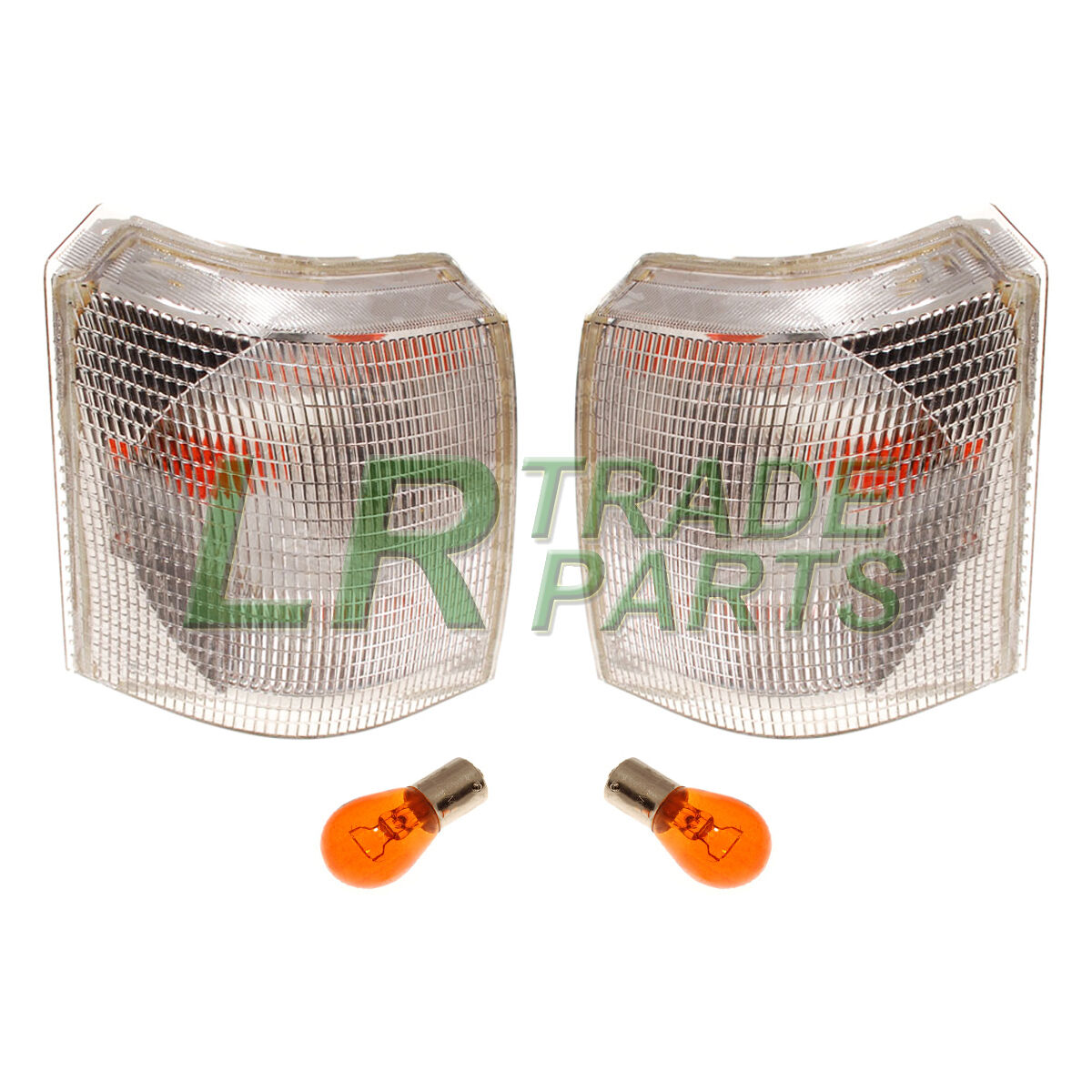 Pair Of Clear Front Indicator Lights For Land Rover: RANGE ROVER P38 NEW FRONT CLEAR INDICATOR LIGHTS LAMPS