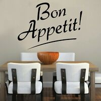 Bon Appetit! Quote Decal Vinyl Wall Sticker Kitchen Sayings Popular