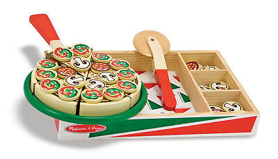 Melissa & Doug Pizza Children's Wooden Toy Kitchen Play Food Educational Toy