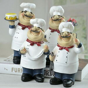 Image Is Loading Cooking Chef With Cake Figurine Chef Figure Statue