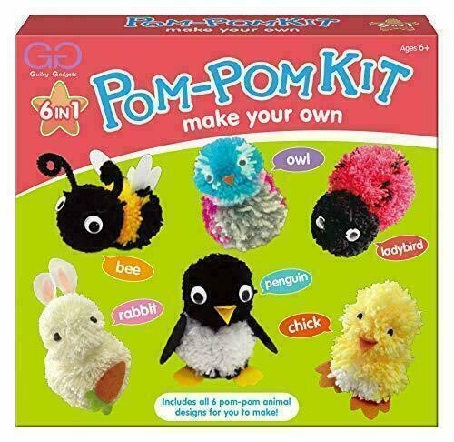 6 en 1 hacer su propio carácter Pom-Pom Kit Set Ideal Navidad Regalo Para Niños