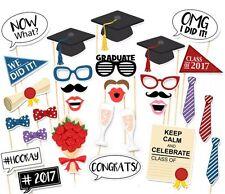 30PCS Graduation Grad Party Masks Photo Booth Props Mustache On A Stick US SHIP