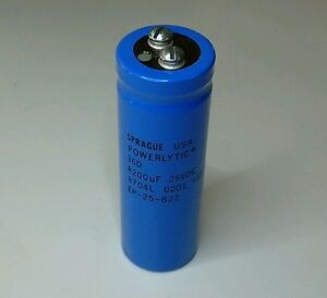 Sprague Powerlytic Large Can Electrolytic Capacitor Screw Terminals 36D 36DX