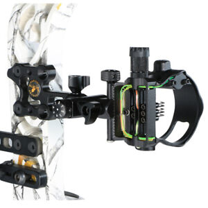 Archery-Compound-Bow-5-Pin-Sight-Adjustable-Micro-Optical-Fiber-Sight-Hunting