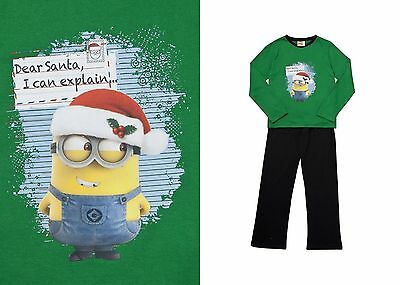 DESPICABLE ME  MINIONS XMAS CHRISTMAS PJ SET PYJAMAS AGES 4-10 EX-CHAINSTORE NEW