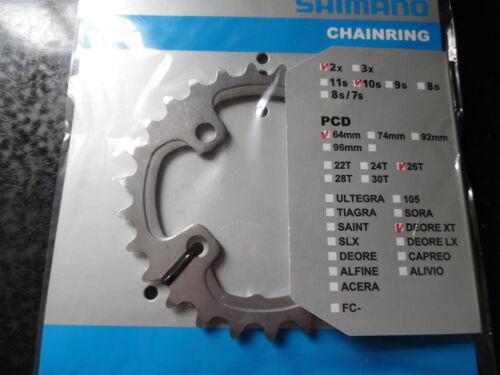 XTR 22T//24T//26T//28T Acero XT Shimano Interior MTB Cadena Anillo Deore Slx