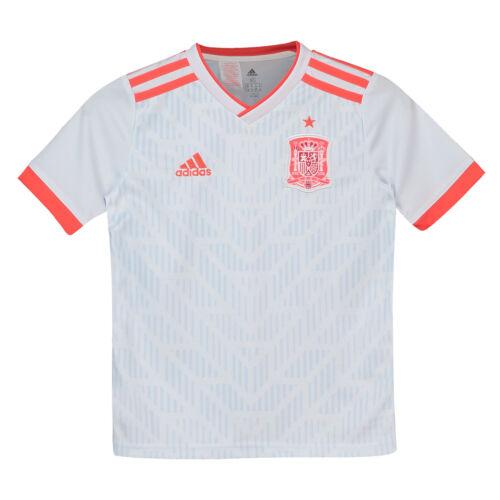 Official Spain Football Away Shirt 2018 Tee Top Jersey Sport adidas Kids