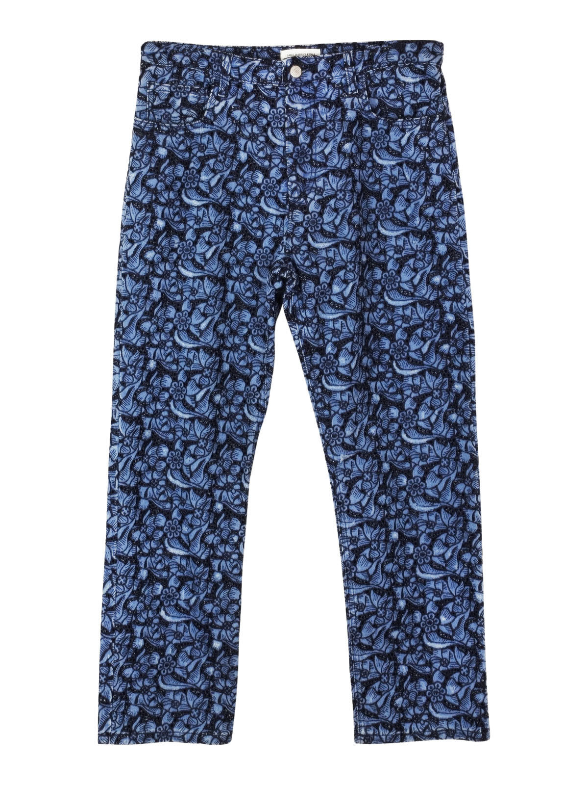 NEW Isabel Marant Etoile embroidered floral skinny fit bluee jeans