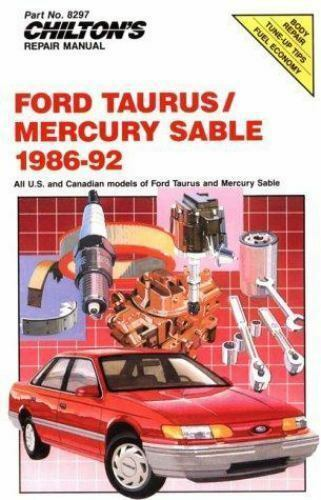 1 of 1 - Chilton's Repair Manual: Ford Taurus Mercury Sable 1986-92 (Chilton's -ExLibrary