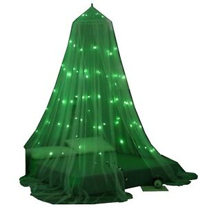 Halloween-Glow-in-The-Dark-Bed-Canopy-Mosquito-Net-Fits-Crib-Twin-Full-Q-K-CK