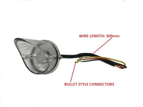 Brat Style Bikes ROUND POINTY LED Motorbike Stop Tail Light for Cafe Racer