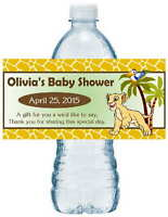 20 Lion King Baby Nala Baby Shower Water Bottle Labels
