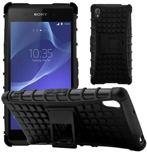 competitive price 6fbd2 3de9b Details about G-Shield® Shockproof Heavy Duty Hard Armour Stand Case Cover  For Sony Xperia Z2