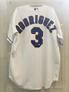 sports shoes 8e53f 75bfc Details about ALEX RODRIGUEZ #3 TEXAS RANGERS SIGNED JERSEY