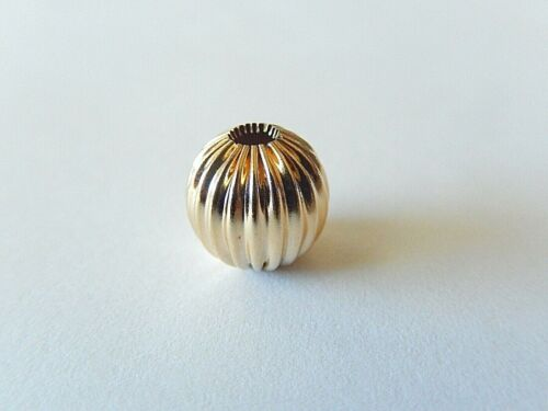 """14K SOLID YELLOW GOLD 10MM FLUTED """"ADD A BEAD"""""""