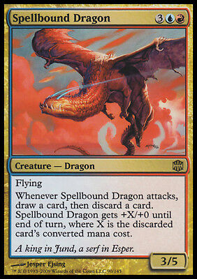 Gold Alara Reborn Mtg Magic Rare 4x x4 4 PLAYED Spellbound Dragon