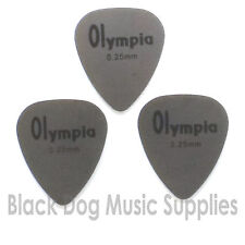 Three quality stainless steel teardrop guitar picks plectrums 0.25mm