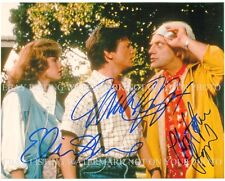BACK TO THE FUTURE CAST AUTOGRAPHED 8x10 RP PHOTO FOX LLOYD AND SHUE