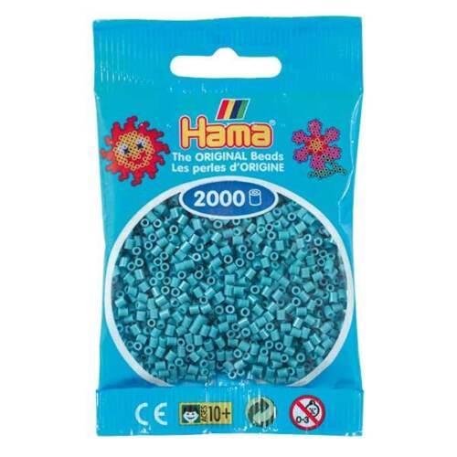 Hama 2000 Mini Bügelperlen 501 ALLE FARBEN Ø 2,5 mm Perlen Steckperlen Beads