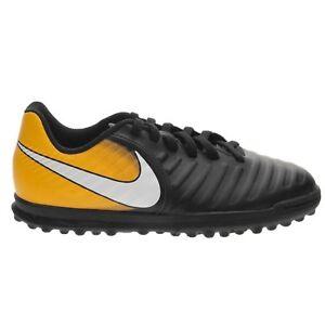 Ragazzi Nike JR TIEMPO RIO NeroBianco Lacci Scarpe da