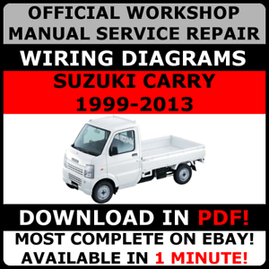Official Workshop Service Repair Manual For Suzuki Carry Every Nt100 1999 2013 Ebay