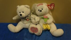 TY Beanie Babies Baby We Do The Wedding Bears Duo With Tag Rare