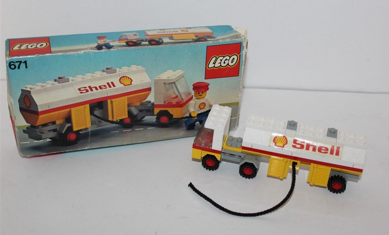 Lego Shell Fuel Tanker 1978 Set Set Set No 671 Boxed 8d417c