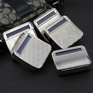 Metal Automatic Cigarette Tobacco Roller Roll Rolling Machine Box Case Tin G~N@ 877093065434