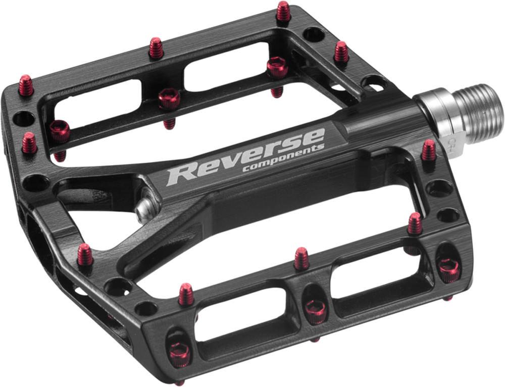 Reverse one Flat bicicleta pedal negro rojo