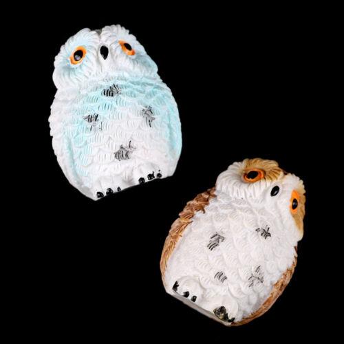 Miniature Owl Dollhouse Resin Fairy Home Garden DIY Micro Landscape HC