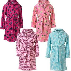 0b8358c3361c2 INSIGNIA Girls Kids Dressing Gown Fleece Bathrobe Wrap Soft Hooded ...