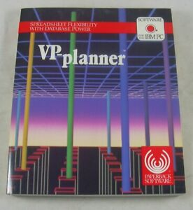VP-Planner IBM PC Software Vintage 1985/1986 Users Guide Spreadsheet Database
