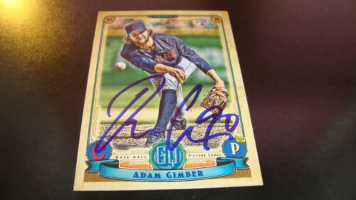 Adam Cimber Cleveland Indians Autograph Auto signed 2019 Gypsy Queen rookie card