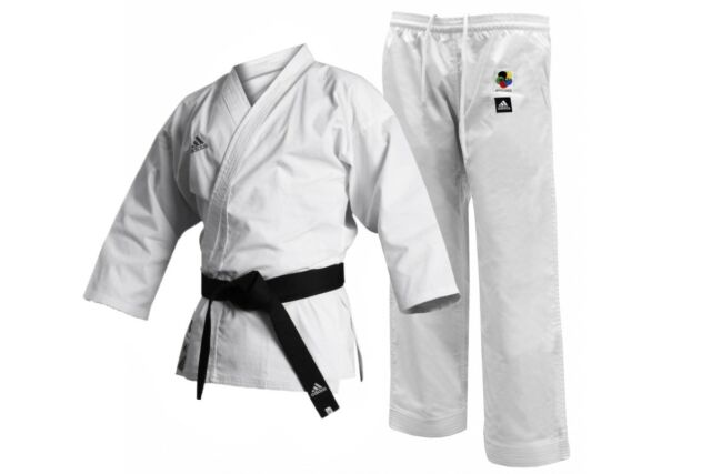 Adidas Karate Gi K380E European Cut Canvas Karate Uniform ELITE Kata 12oz