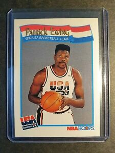 1991-NBA-HOOPS-PATRICK-EWING-ALL-STAR-CARD-mint-condition