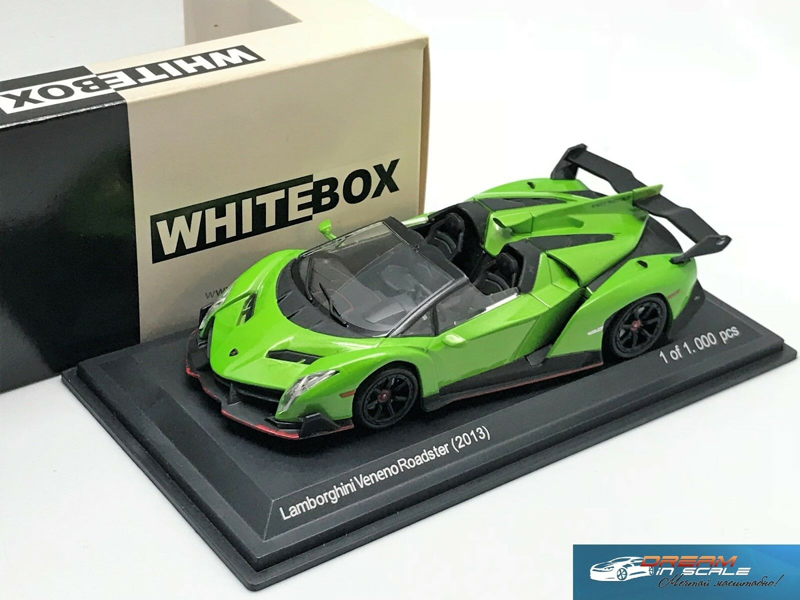 Lamborghini Veneno Roadster 2013 Green 2013 Whitebox 1 43 Ebay