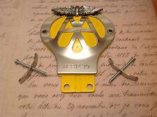 Classico auto AA Badge Numero D'Ordine 6E 967691 CROMATO CLUB DA COLLEZIONE BAR