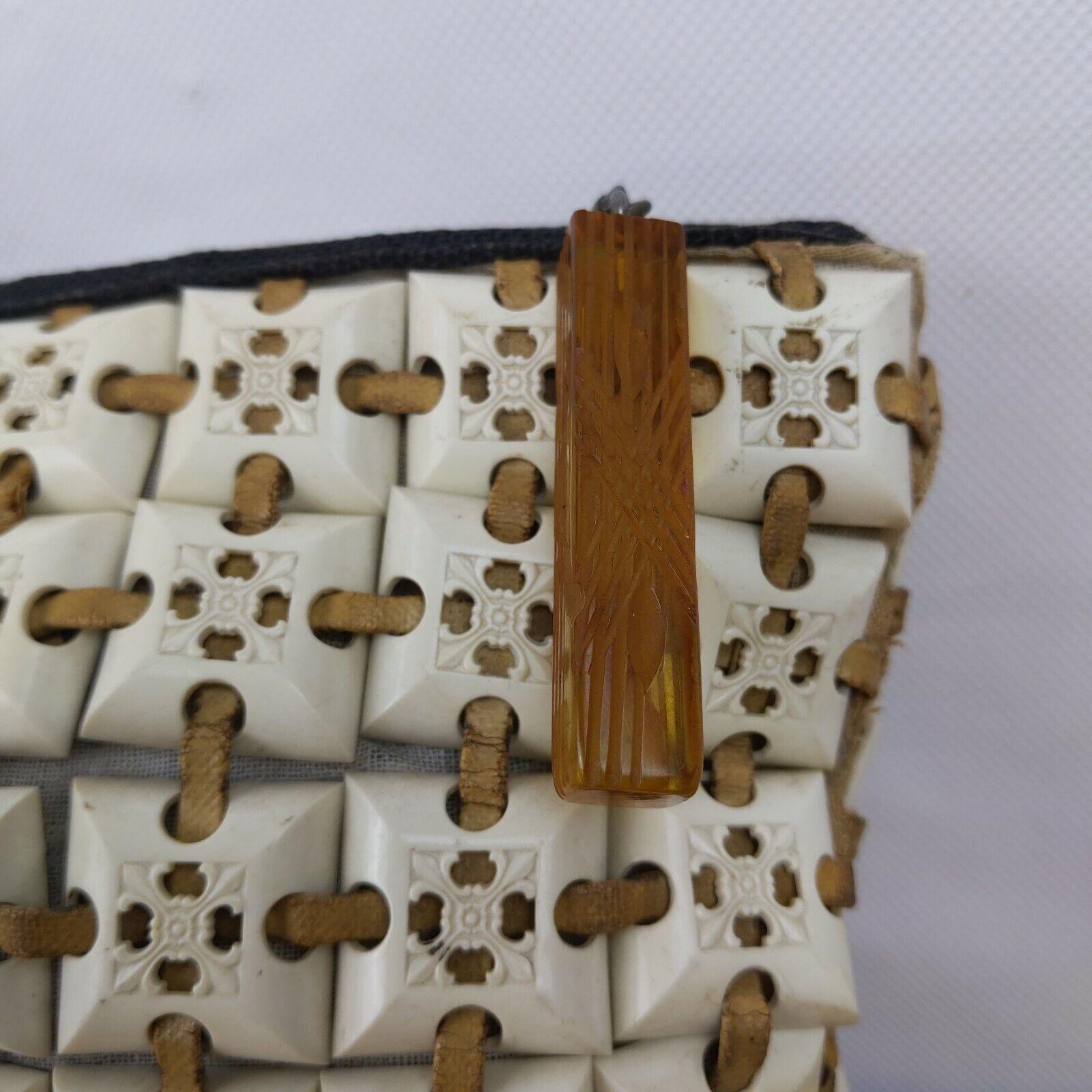 PlasticFlex Purse Vintage 1940s Plastic Tile Bag … - image 2