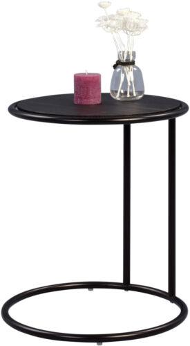 Couchtisch Wohnzimmertisch Beistelltisch Telefontisch DEXTER Ø 45 cm schwarz NEU