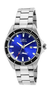 Invicta-Pro-Diver-15184-Men-039-s-Blue-Round-Analog-Date-Stainless-Steel-Watch