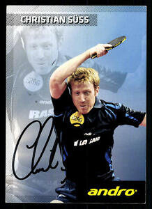 Olympische Spiele Christian Süß Tischtennis Autogrammkarte