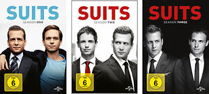 11 DVDs * SUITS - SEASON / STAFFEL  1 - 3 IM SET # NEU OVP  +