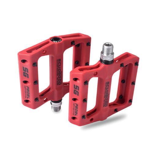 UK Road Mountain Bike Bicycle Platform Pedals Flat Steel Sealed Bearing 9//16 2Pc