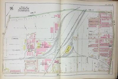 PA POWERS /& WEIGHTMAN /'S CHEMCIAL WORKS ATLAS MAP 1894 EAST FALLS PHILADELPHIA